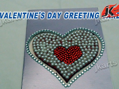 DIY How to make valentine's day Greeting Card - Style 2 - JK Arts 127