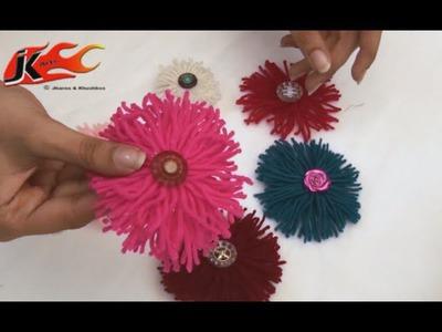DIY - How to make Woolen Flower - JK Arts 022