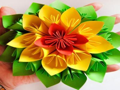 DIY. HTM: Flor de Papel estilo Kusudama. Kusudama Flower