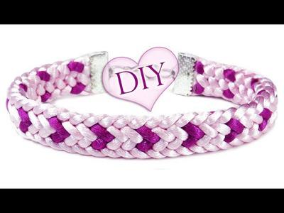 """DIY: Kumihimo ♡LOVE♡ bracelet. Браслет """"Кумихимо"""" плоский из 12 нитей (сердечки)"""