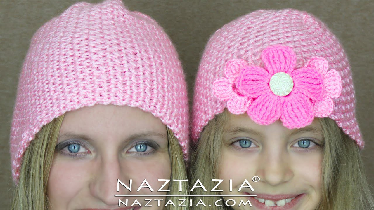 DIY Learn How to Crochet Easy Beginner Crocheted Hat Beanie for Babies Children Adult Tutorial
