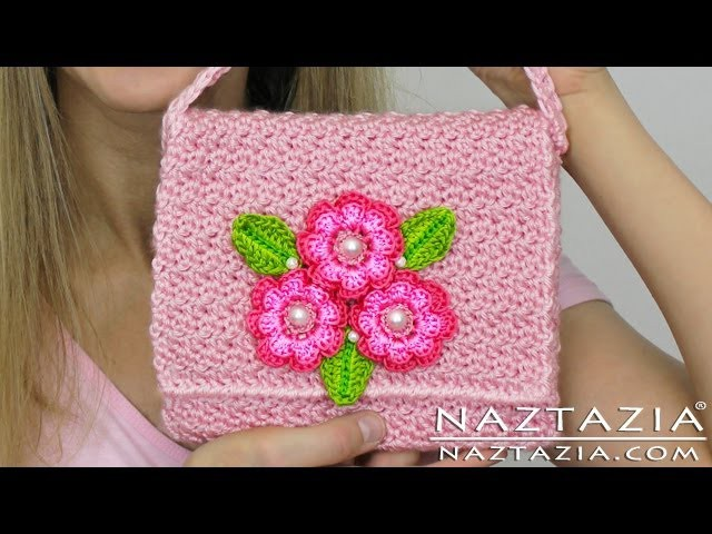 DIY Learn How To Crochet Flower Purse Bag Clutch Handbag Wallet (and Line a Purse)