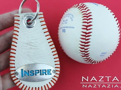 DIY Learn How to Make a Baseball Key Chain from a Base Ball Keychain Craft Tutorial