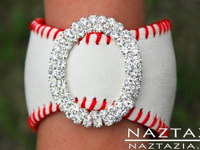 DIY Learn How To Make Baseball Cuff Bracelet (leather bracelets from baseballs jewelry jewellry)