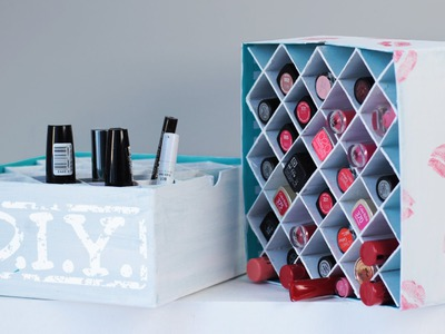 DIY Makeup Aufbewahrung - Lippenstift Box - Deko