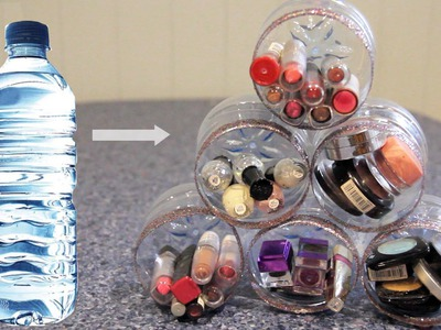 DIY Makeup. Room Organiser ♡ Recycle Plastic Bottles