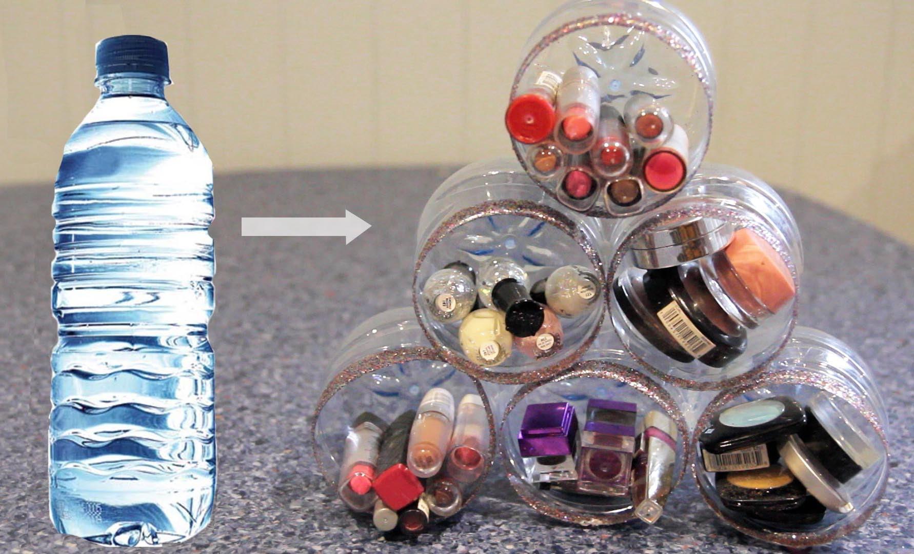 DIY Makeup. Room Organiser ♡ Recycle Plastic Bottles
