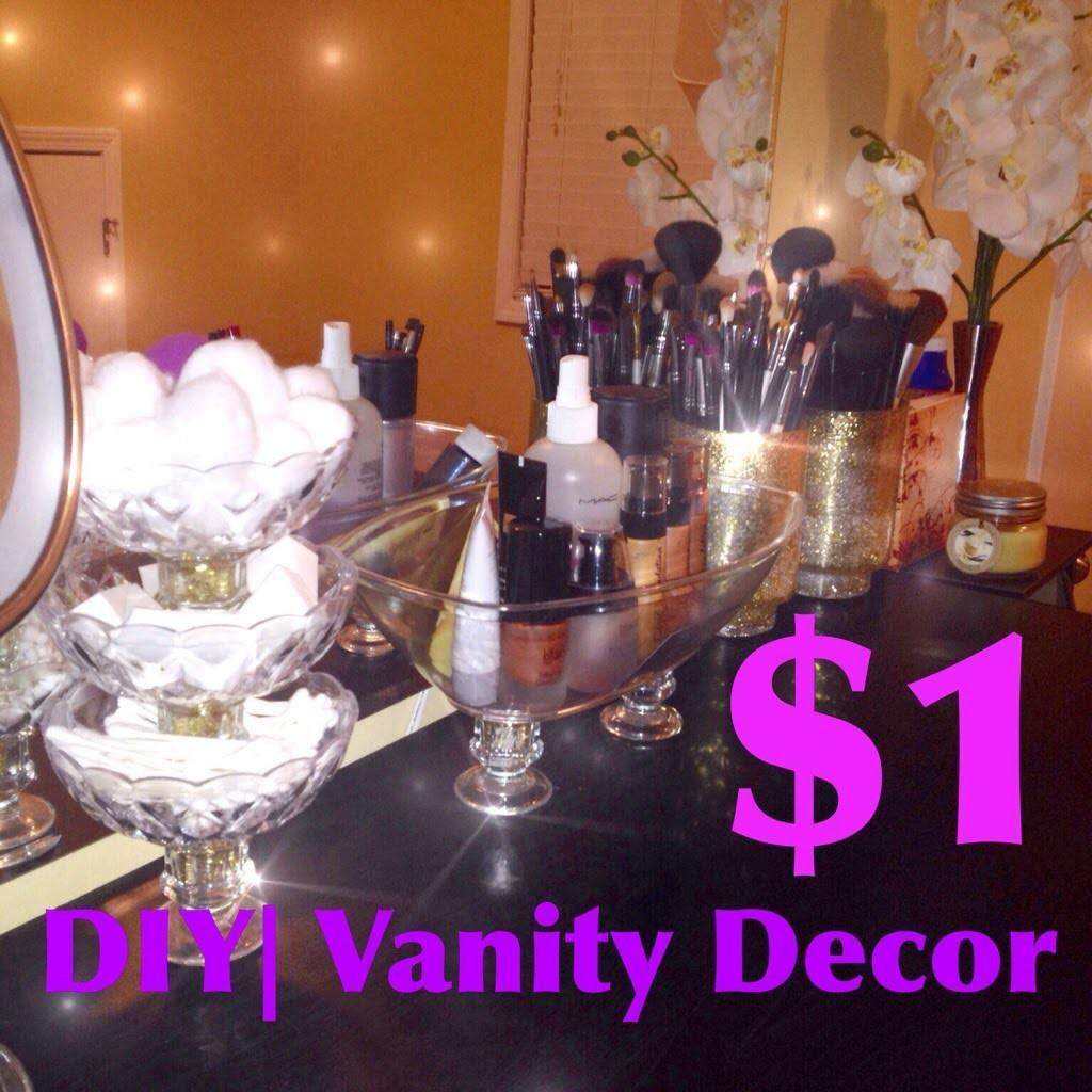 DIY|MakeUp Vanity Display $1store