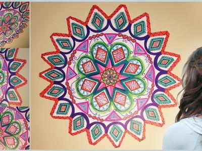 DIY Mandala Zentangle Wall Mural Doodle Art! For Your Room