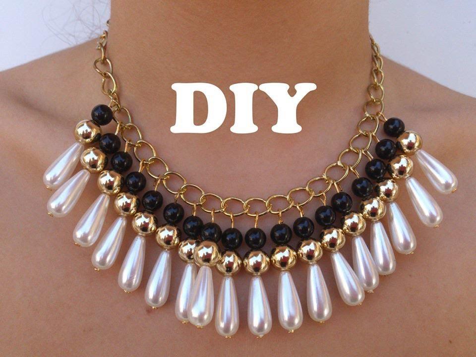 DIY Necklace Collar muy de moda