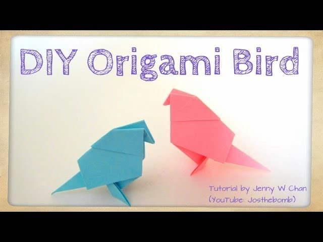 DIY Origami Bird Tutorial - Paper Crafts - Easter Crafts - Kids - Easy