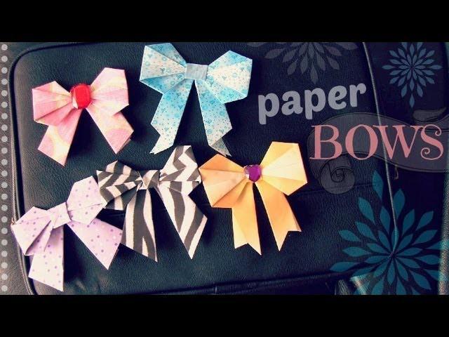 DIY: Paper Bow - Scrapbooking. Origami. Locker Decor