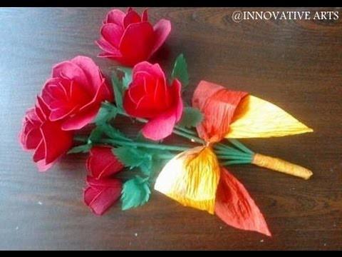 DIY Paper crafts :: How to make paper ROSE - Innovative Arts