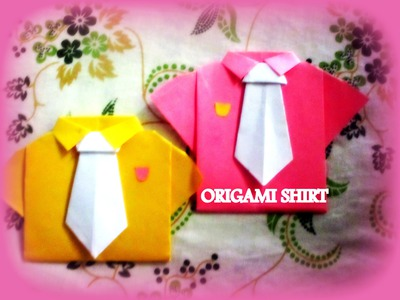 DIY Paper Crafts :: How to Make an Origami Paper SHIRTS with TIE - Innovative arts