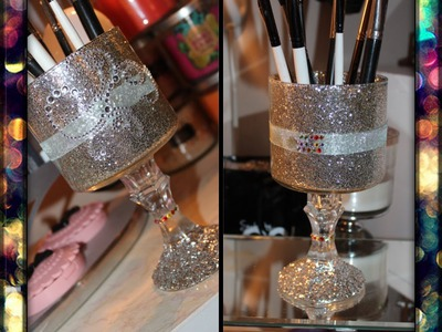 ♥DIY: Pedestal Makeup Brush Holder♥