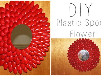 DIY: Plastic Spoon Flower Wall Hanging. Wreath ♡ {House Decor} ♡ Jessica Joaquin