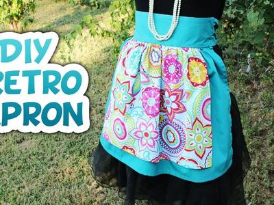 DIY Retro Half Apron Tutorial - Whitney Sews