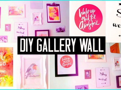 DIY ROOM DECOR! Design your wall arts & make your own gallery wall! EASY