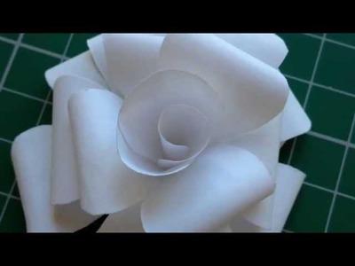 DIY Simple Paper Roses Tutorial
