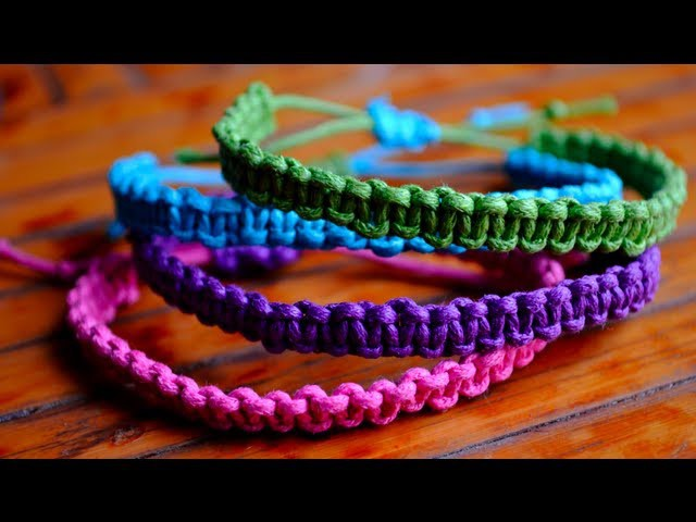DIY Stackable Square Knot.Cobra Stitch Bracelets