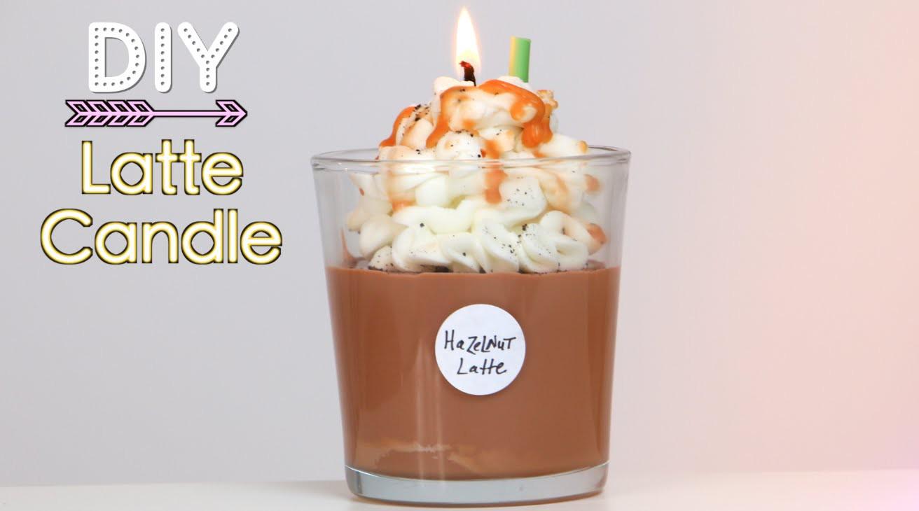 DIY Starbucks Latte Candle (Holiday Gift Idea)