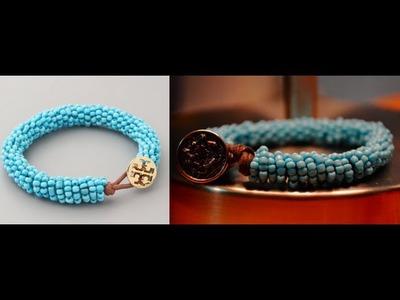 DIY Tory Burch Inspired Beaded Bracelet   Retail:$58 - DIY:$6
