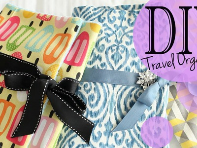 DIY Travel Accessory & Makeup Brush Organizer Tutorial | ANNEORSHINE