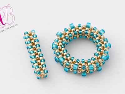 DIY Tutorial Chiusura T-BAR perline in cubic raw