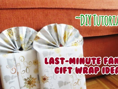 DIY Tutorial: Last-Minute Fancy Gift Wrap Idea!