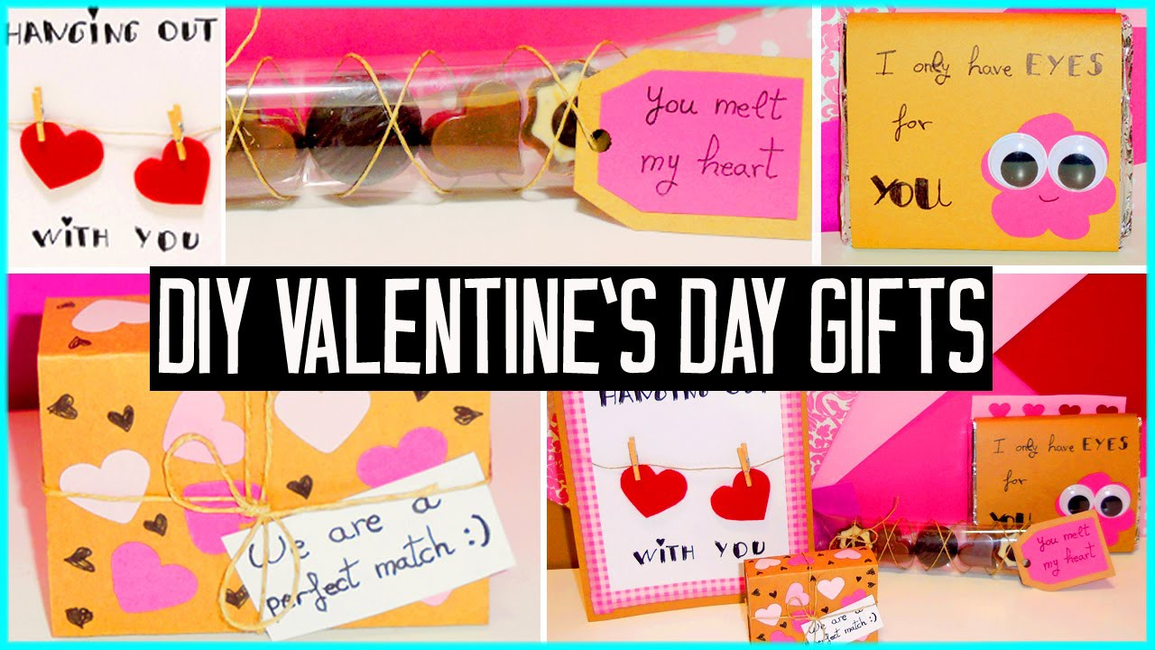 DIY Valentine's day little gift ideas! For boyfriend, girlfriend, family. Cute.cheap!