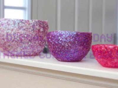 DIY Valentine's Day Themed Confetti Bowls