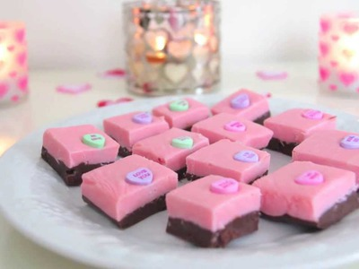DIY Valentine's Day Treats ~ Quick & Easy Pink Fudge