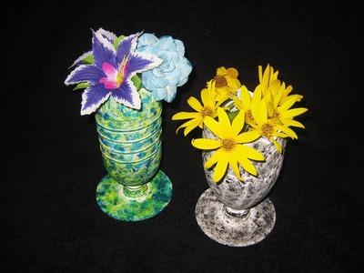 DIY Вазочки из пластиковых бутылок. Мастер класс \ Vase from a plastic bottle video tutorial