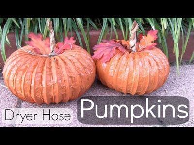 Dryer Hose Pumpkin How To! Home Decor. FALL into CRAFTS.