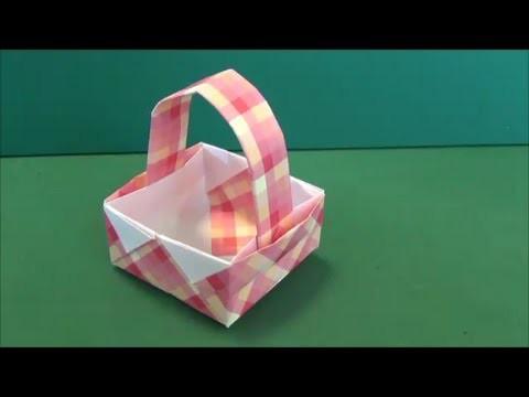 """「バスケット」折り紙""""Basket""""origami"""