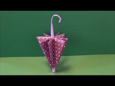 "梅雨「傘」折り紙Rainy season ""umbrella"" origami"