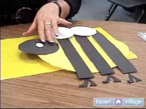 Easy Arts & Crafts Projects for Kids : Finish Making a Bumble Bee: Arts & Crafts for Kids