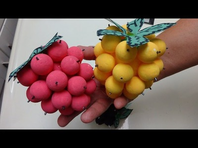 Easy Crafts for Kids: How to Make Giant Raspberries for Your Home Decoration