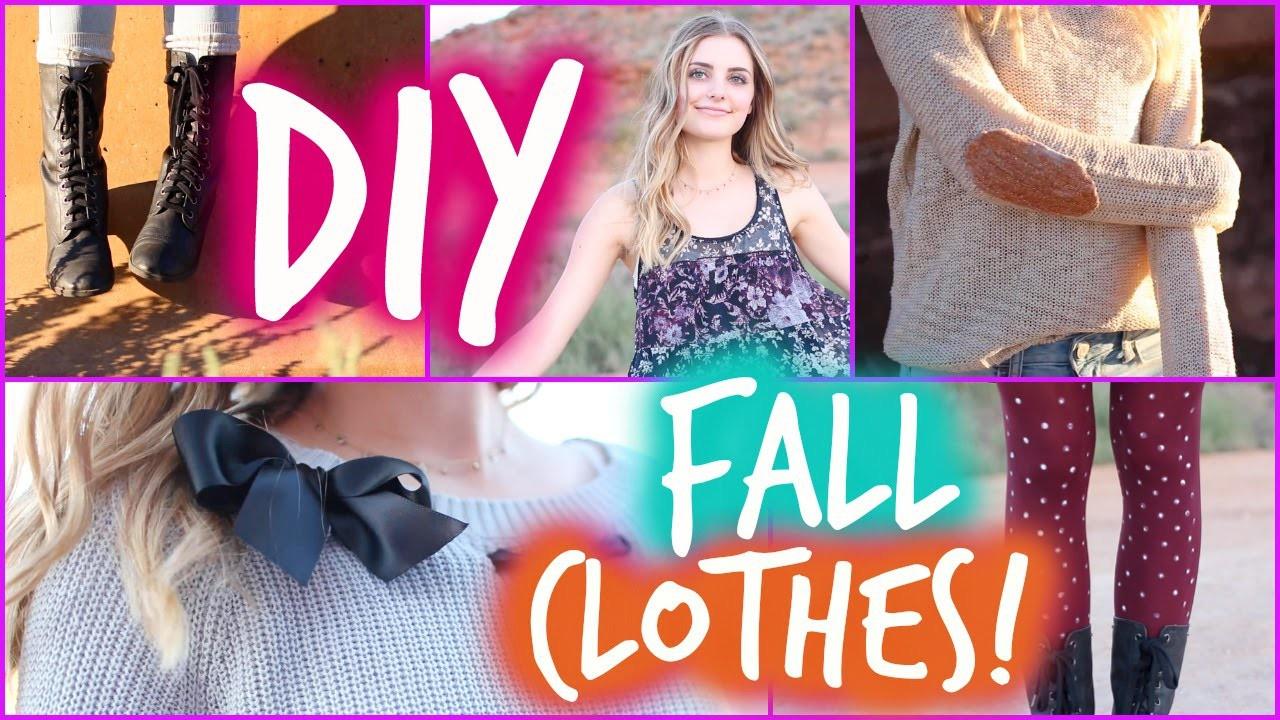 Easy DIY Fall Clothes Inspired by Tumblr!   Aspyn Ovard