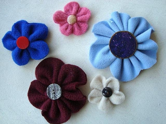 EASY FLEECE OR FELT FLOWERS