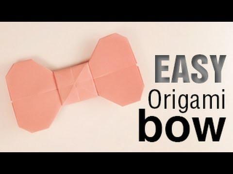 Easy Origami Bow Tutorial
