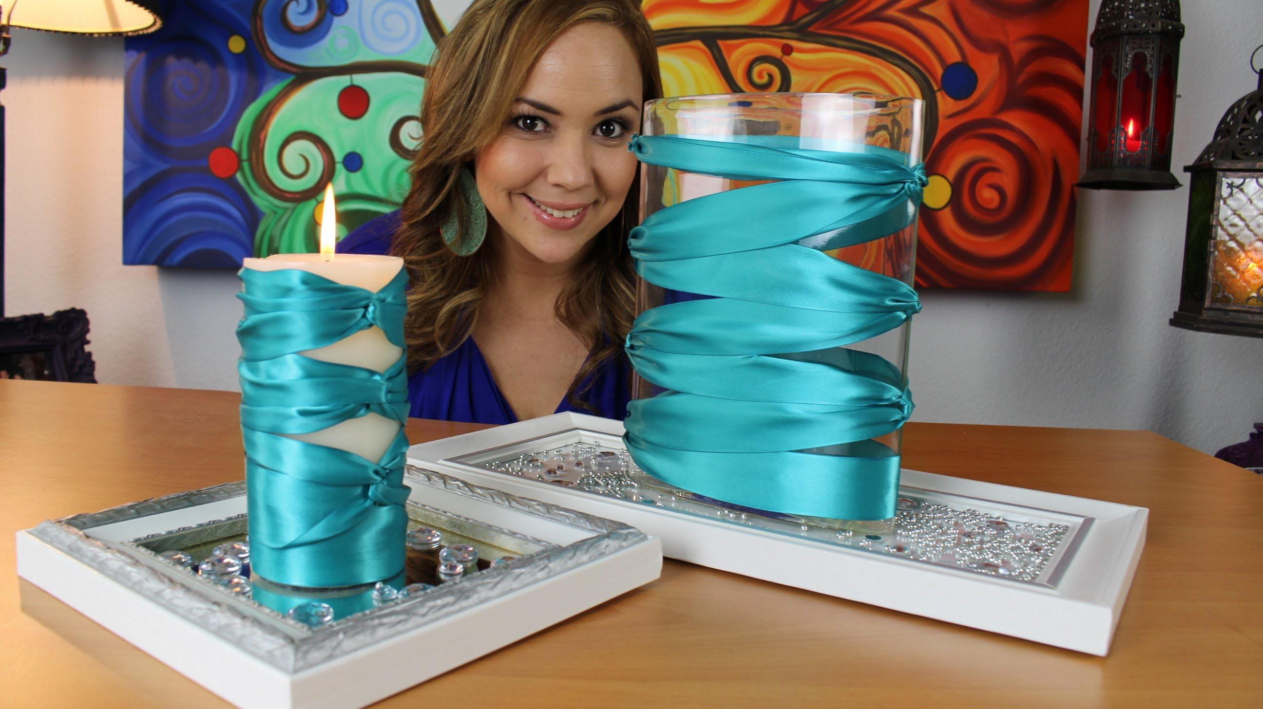 Elegantes Centros de mesa con Liston. Elegant Center piece with ribbon