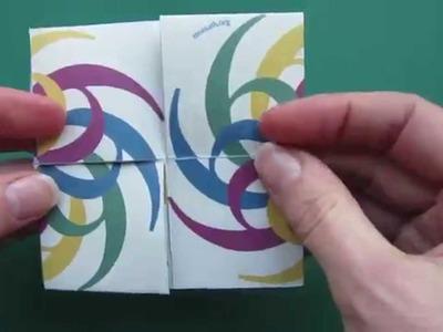 Flexagon - hexatetra flexagon - papercraft - tutorial - - dutchpapergirl