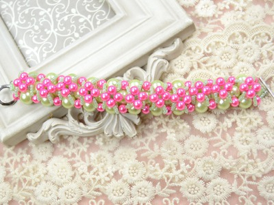 Free Pearl Bracelet Pattern Make a Cluster Pearl Bracelet for Bridesmaids