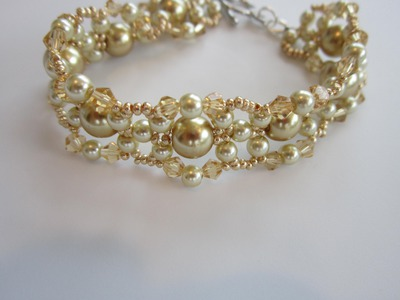 Gold Bracelet .Браслет золотой. Bracelet . Tutorial . How to make .