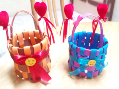 Handmade Craft Ideas - Kids DIY Foam Basket - Tutorial .