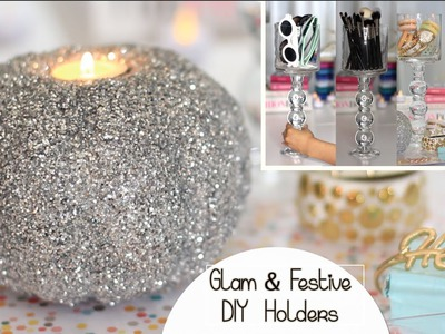 Holiday DIY Decor | Chic Holder | Glitter Pumpkin Candle | Collab w. Msbtrendy & Allnatural28