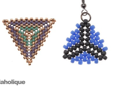 How to Bead Weave a Triangle Using Peyote and Herringbone Stitches