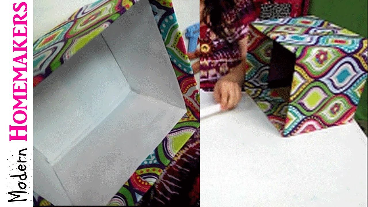 How To Cover A Box With Fabric