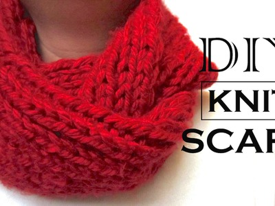 How to Knit a Scarf | DIY Valentine Gift for Him | DIY Valentine Gift Ideas